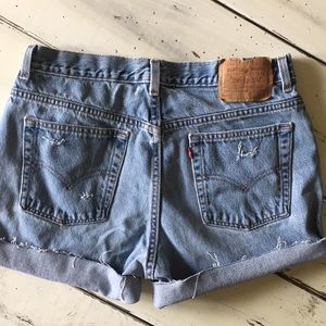 Levi's Shorts - Levi's Vintage Distressed High waisted mom jeans